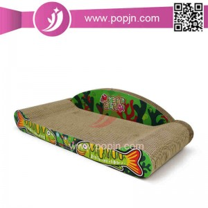 Holdbar Cute Cat Shape Bølgepap Cat Cat Scratcher Cat Bed